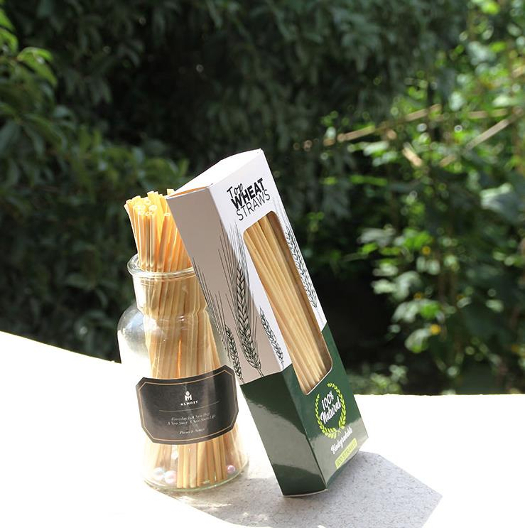 Eco friendly non plastic wheat straws